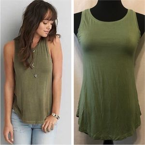 American Eagle Soft and Sexy Tank Top Green Sz XS